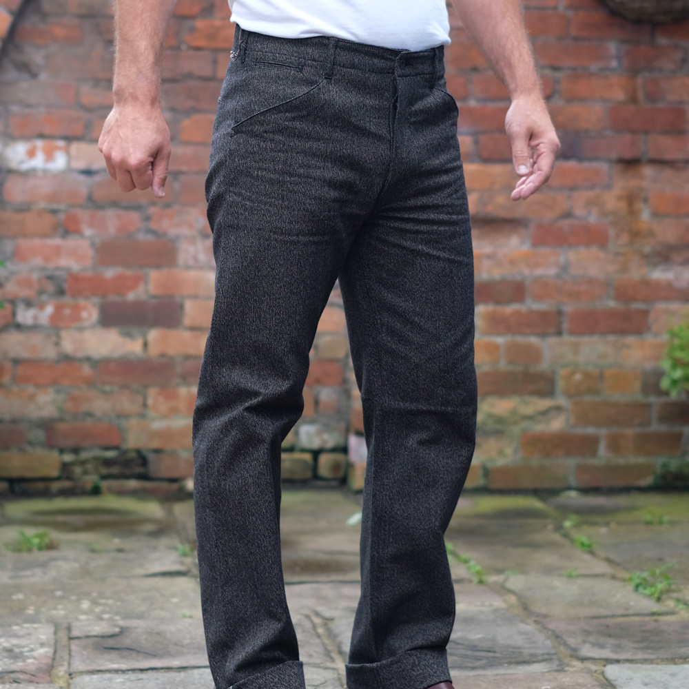 Stevenson Overall Dockers Trousers – Heather Grey