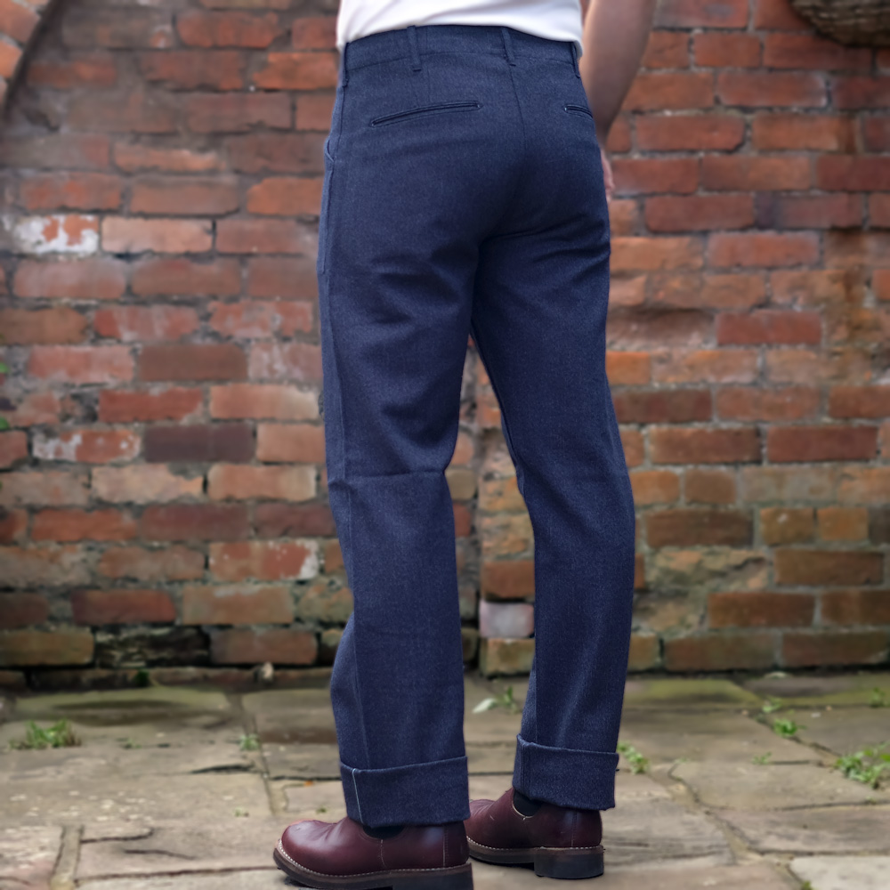 Stevenson Overall Dockers Trousers – Heather Indigo