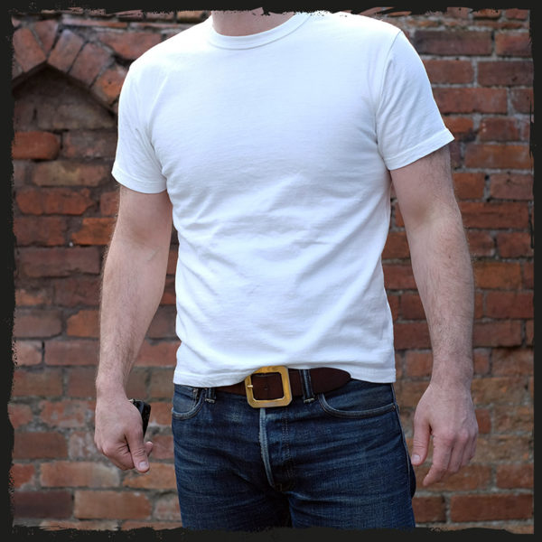 The Strike Gold Plain T Shirt White