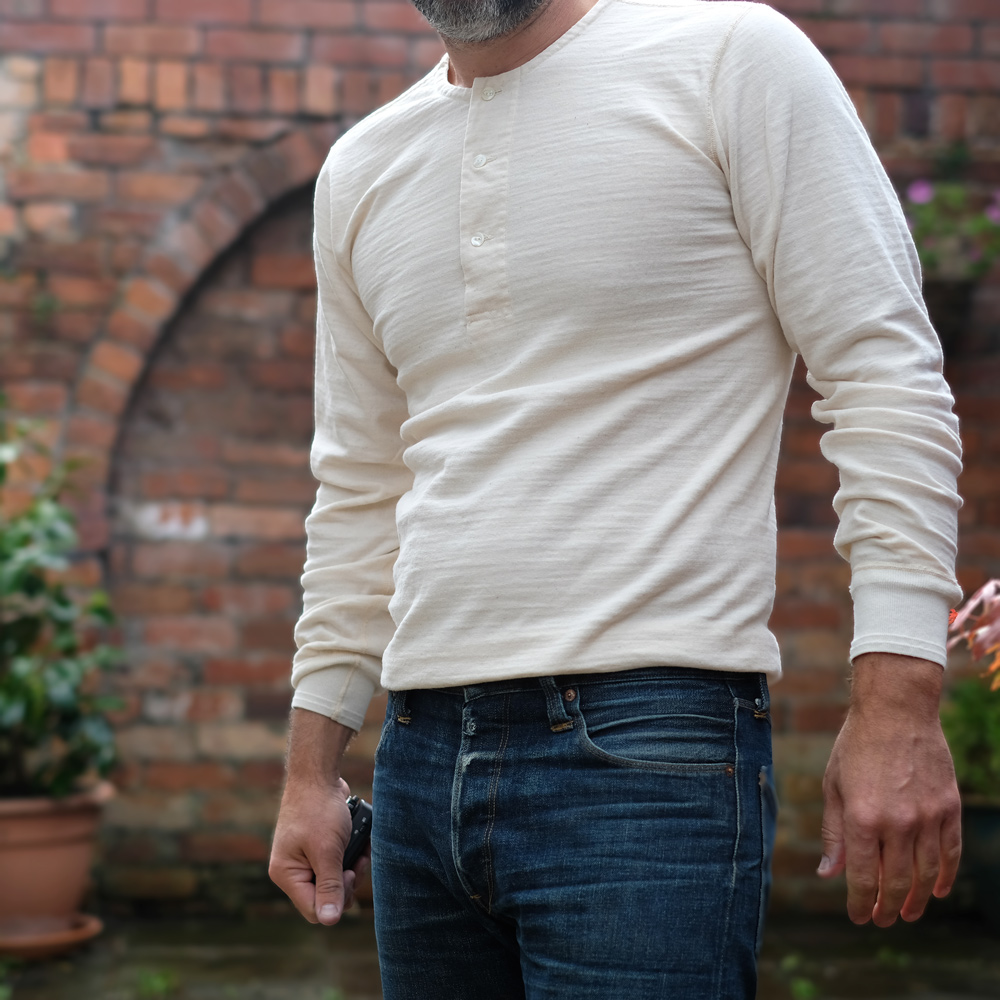 Stevenson Overall Loop-Wheeled Long Sleeve Henley