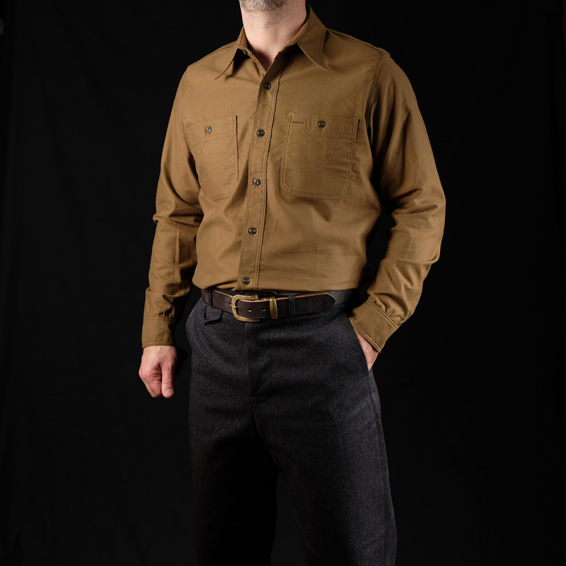 Belafonte Triple Stitch Shirt – Army Flannel