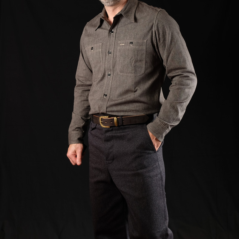 Belafonte Triple Stitch Shirt – Vintage Black Selvedge Chambray