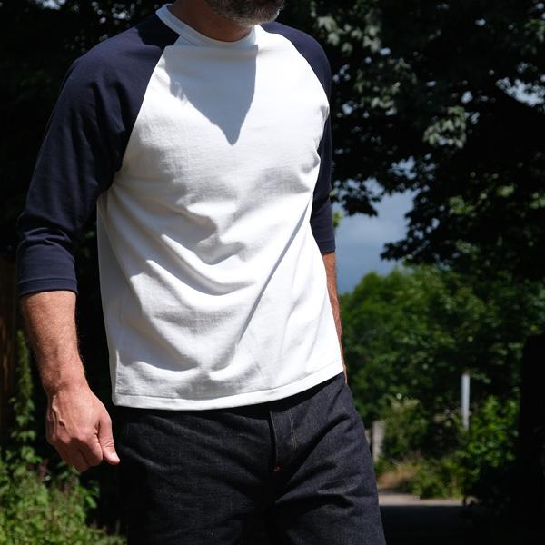 Belafonte Ragtime Baseball Tee – Navy/ White