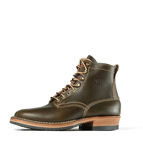 White's #55 Smoke Jumper Boots – Olive Waxed Flesh