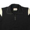 Dehen 1920 Motorcycle Sweater - Black/ Off White Stripe