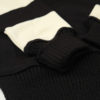 Dehen 1920 Motorcycle Sweater - Black/ Off White Stripe