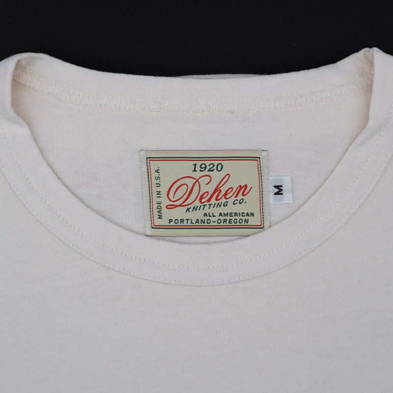 Dehen 1920 SS Pocket Heavy Duty Tee – Natural