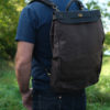 Vasco Leather Canvas 2 Way Backpack