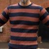 Westride Border Rib Sweater Navy