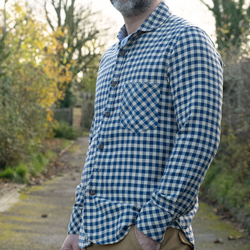 Scarti-Lab 315 SM973 Shirt – Natural Cotton Check