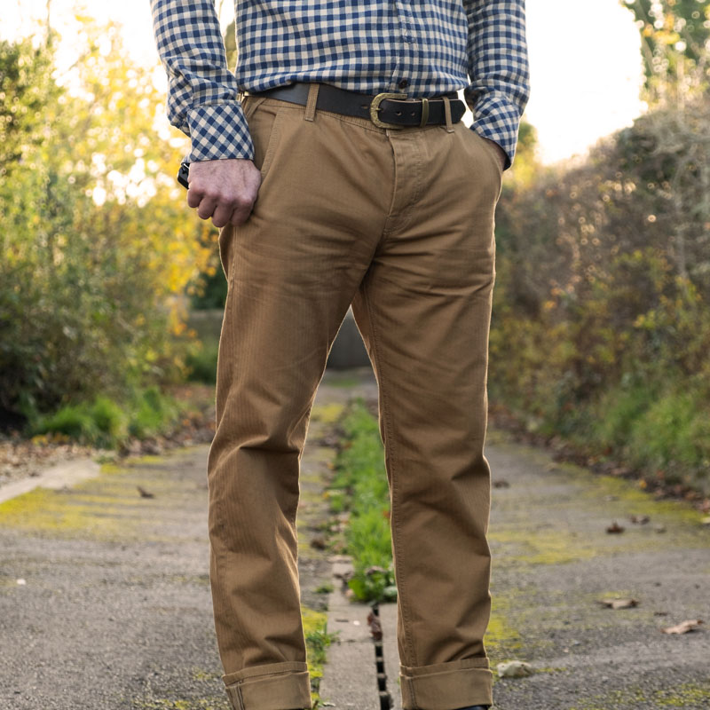 Scarti-Lab 101 SW350 Herringbone Trousers – Khaki
