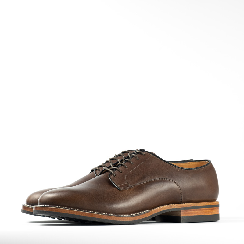 Viberg Derby Shoe – Stone Oiled Calf