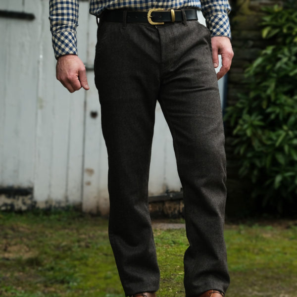 Scarti-Lab 101 SE941 Herringbone Wool Trousers