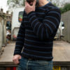 Westride Heavy Rib Border Sweat Black Marine