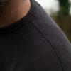 Loop & Weft jacquard v-gusset sweatshirt black