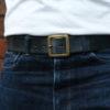 Hollows Leather Single Rail Belt - Black Bridle