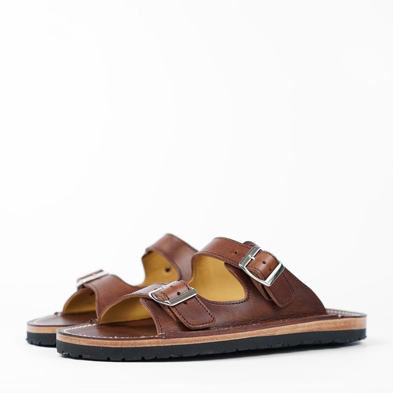 Zerrows Two Strap Sandals - Dagres Dark Brown