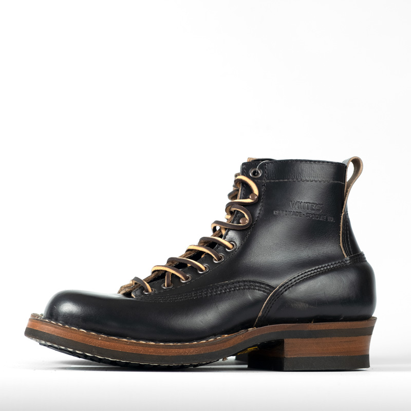 White's 350 Cutter Boots – Black Chromexcel
