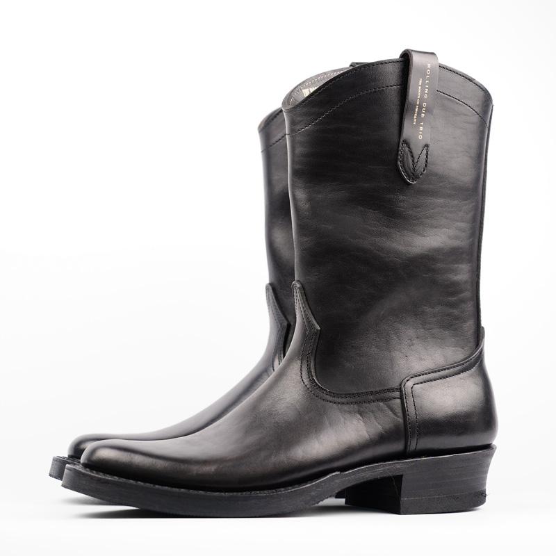 Rolling Dub Trio – Loro Boots – Black Horsebutt Leather