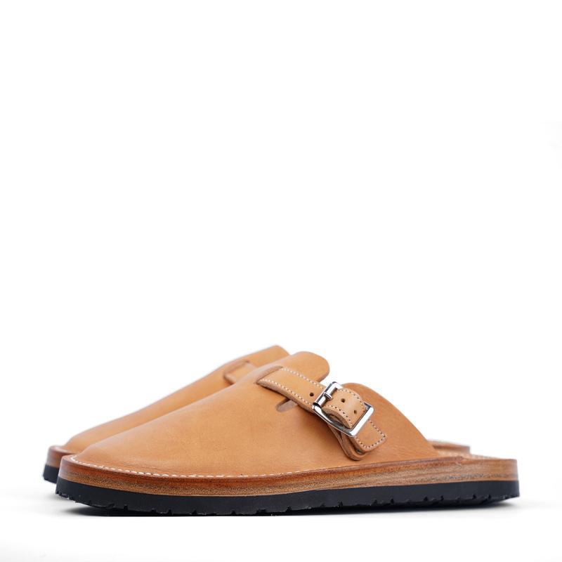 Zerrows Slit Sandals – NY Camel