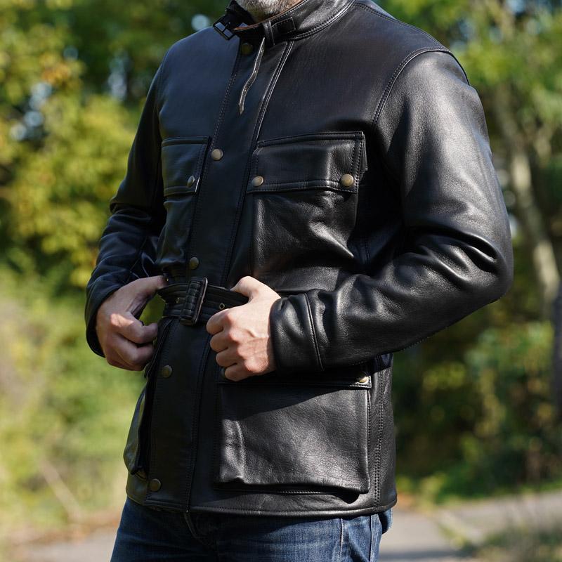 Addict Clothes AD-10 BMC Jacket - Black Sheepskin